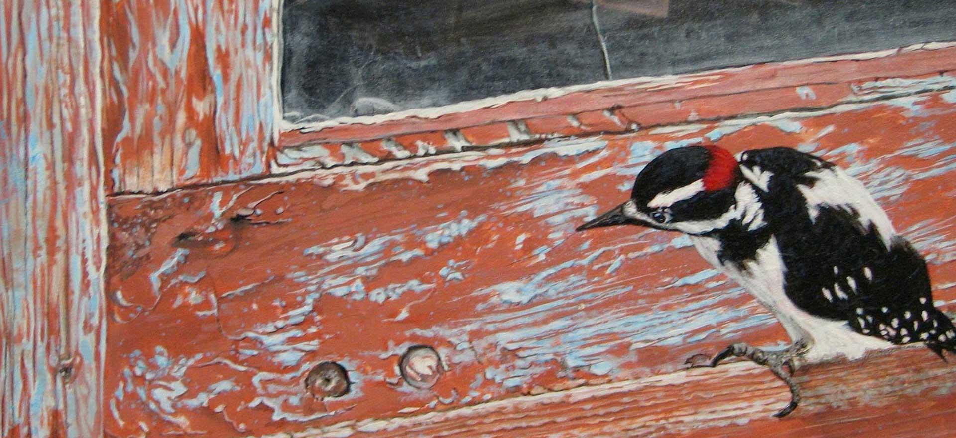 Downey-Woodpecker--Joyce-Trygg-Acrylic